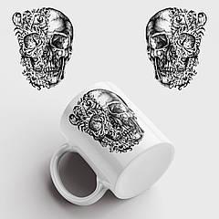 Кружка з принтом Skull Art. Череп Арт. Чашка з фото