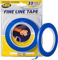 Лента малярная HPX FINE LINE 6 мм х 33 м синяя (блистер) FL0633