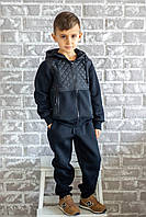 Спортивный костюм для мальчика Chirks SK0008122 122 см Темно-синий