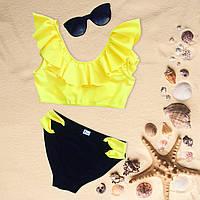 Купальник для девочки Chirks SK0014140 140 см Светло-желтый с черным
