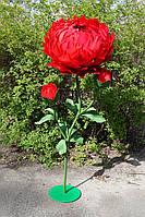 Большие цветы Куст Интерьерных пионов на стойке