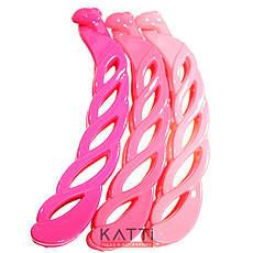 39455 твистер заколка-банан KATTi пластик лаковая цветная Локон 10см, фото 3