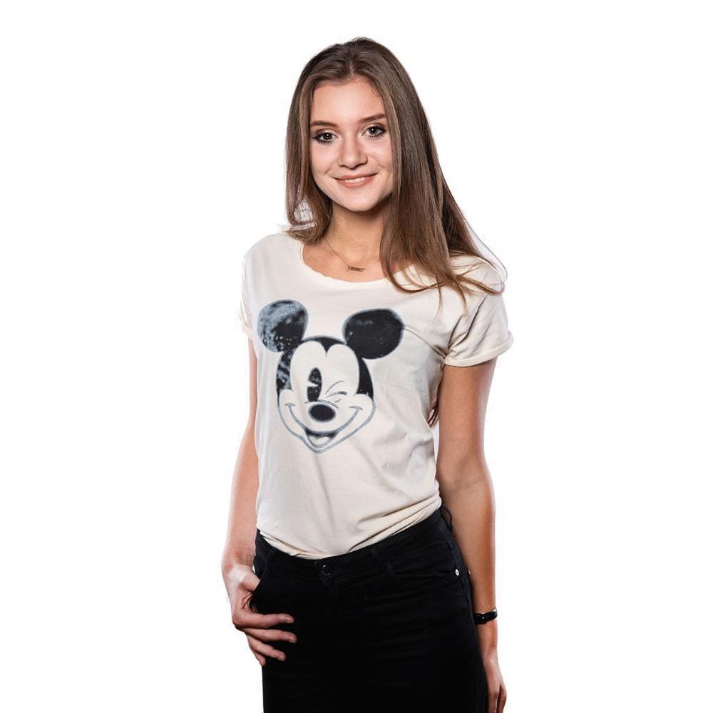Футболка DISNEY Mickey Blinking (Микки) женская, размер L