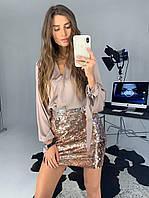 """Женская блуза с длинным рукавом """"шелк Армани"""", фото 1"""
