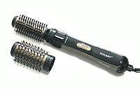 Стайлер для укладки волос Sokany 2 насадки объем и защита Black