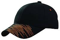 Бейсболка вышивка ZIG-ZAG (оранж) черный