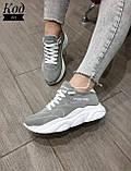 Женские стильные кроссовки BALENCIAGA model- 215, натуральная замша, фото 2