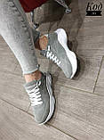 Женские стильные кроссовки BALENCIAGA model- 215, натуральная замша, фото 4