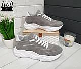 Женские стильные кроссовки BALENCIAGA model- 215, натуральная замша, фото 5