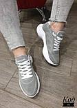 Женские стильные кроссовки BALENCIAGA model- 215, натуральная замша, фото 6