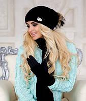 Зимний женский комплект «Эйфория» (шапка, шарф и перчатки)