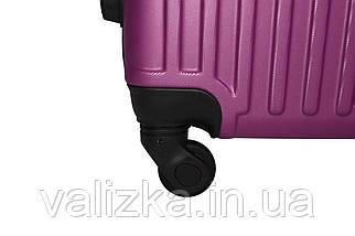 Чемодан из противоударного пластика большого размера Fly на 4-х колесах темно-фиолетового цвета., фото 3