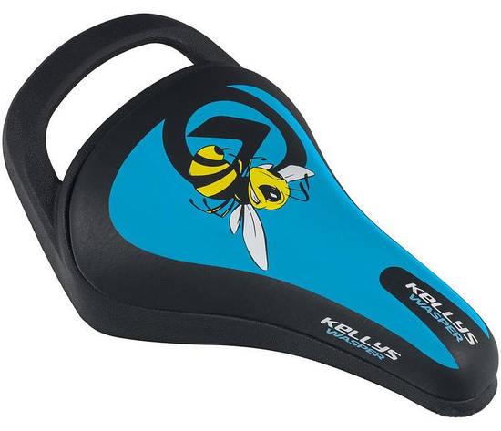Сідло велосипедне KLS WASPER 018 блакитний, фото 2