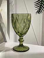 Бокал для вина из цветного хрусталя ромб (цвета в ассортименте)