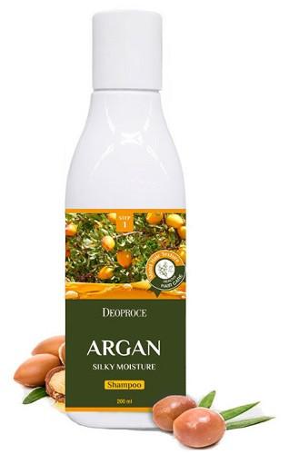 Шампунь с аргановым маслом Deoproce Shampoo Argan Silky Moisture