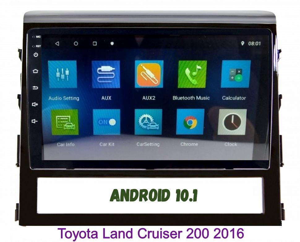 Автомагнитола штатная Toyota Land Cruiser 200 2016  Android 10.1 CPU T3 4/32 Gb