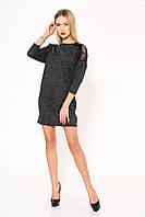 Платье женское 102R026 цвет Темно-серый