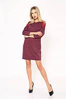 Платье женское 102R026 цвет Бордовый