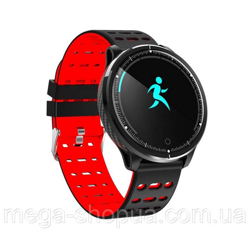 Сенсорные смарт-часы ST4-P71 Black & Red, спорт часы, умные часы, наручные часы, фитнес браслет, фитнес трекер