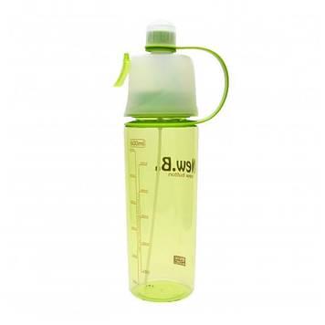 Спортивная бутылка для воды с распылителем New Good Idea.B 600 ml Зеленая (7181toi4296)