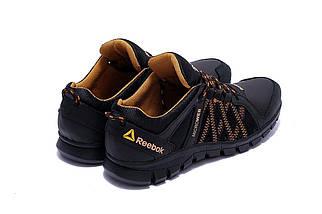 Мужские кожаные кроссовки в стиле Reebok Crossfit черные, фото 3