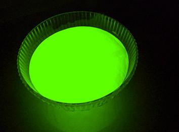 Люминофор зеленый базовый ТАТ 33 (светящийся порошок, люминесцентный пигмент) 100 г