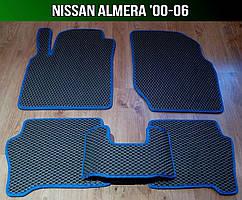 ЕВА коврики на Nissan Almera '00-06. Ковры EVA Ниссан Альмера