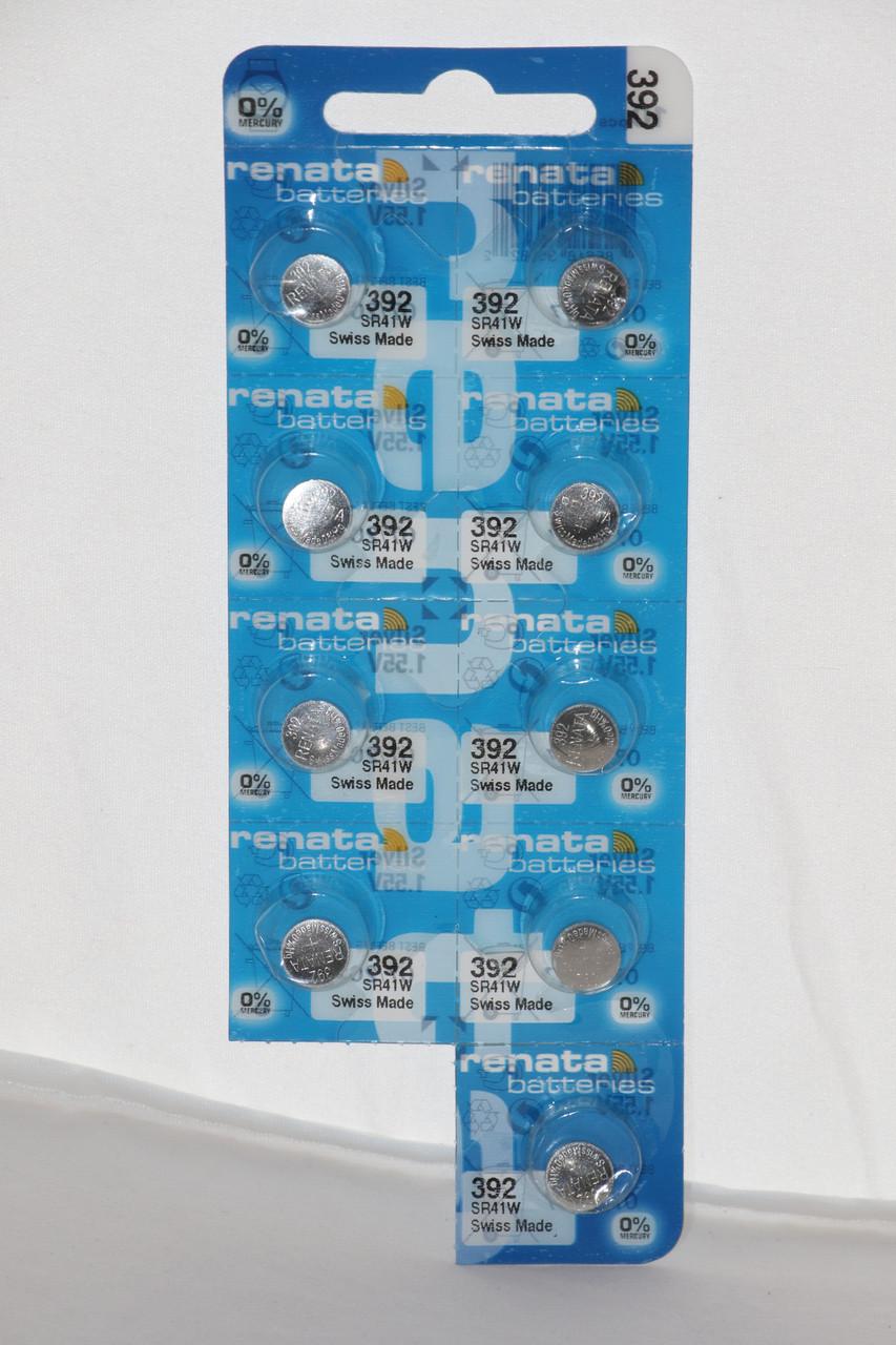 Часовая батарейка Renata SR41SW (392)