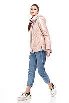 Персиковая демисезонная женская курточка,  размер 42-52, фото 3