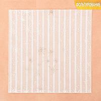 Калька декоративная c фольгированием «Снежный узор», 20 × 20 см