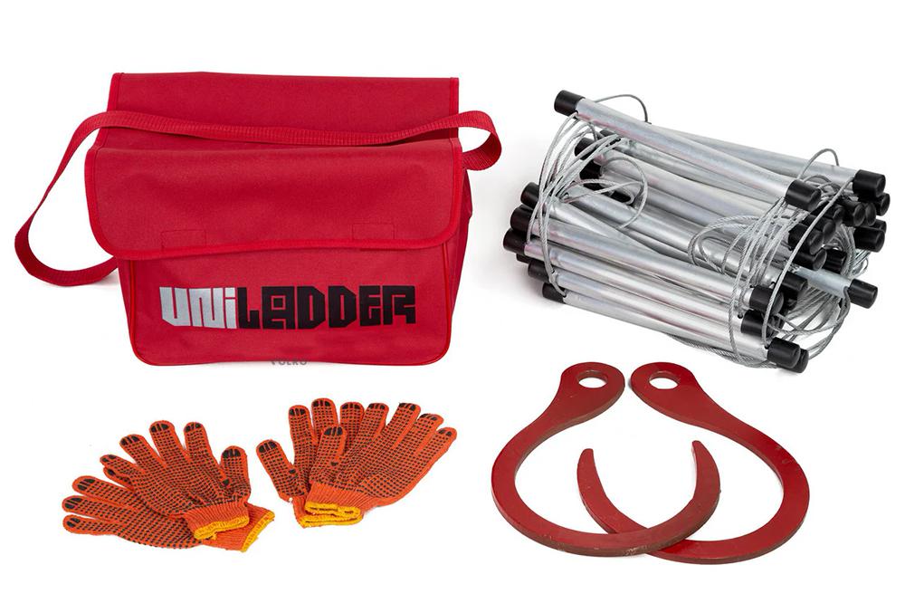 Универсальная спасательная лестница Uniladder 2L-1000 Silver усиленные крюки (vol-144)
