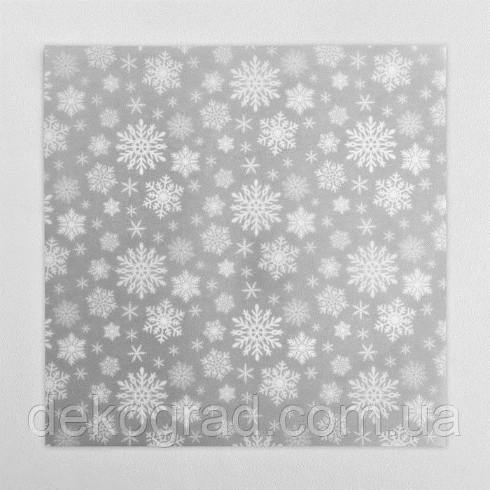 Калька декоративная «Снежинка» 30,5 х 30,5 см