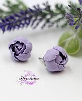 """Серьги цветы гвоздики """"Лавандовые пиончики"""", фото 1"""