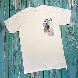 Футболка белая NASA shutlle • насса