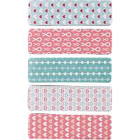 Закладки бумажные Axent Hearts 12 х 50 мм 100 шт 5 цветов