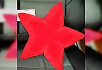 """Подушка маленькая плюш """" звездочка морская"""" интерьерная, декоративная вязаная"""