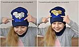 Модная шапка с пайетками для девочки, фото 6