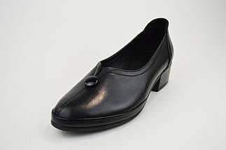 Туфли повседневные Evromoda 320 черные кожа, фото 2