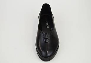 Туфли повседневные Evromoda 320 черные кожа, фото 3