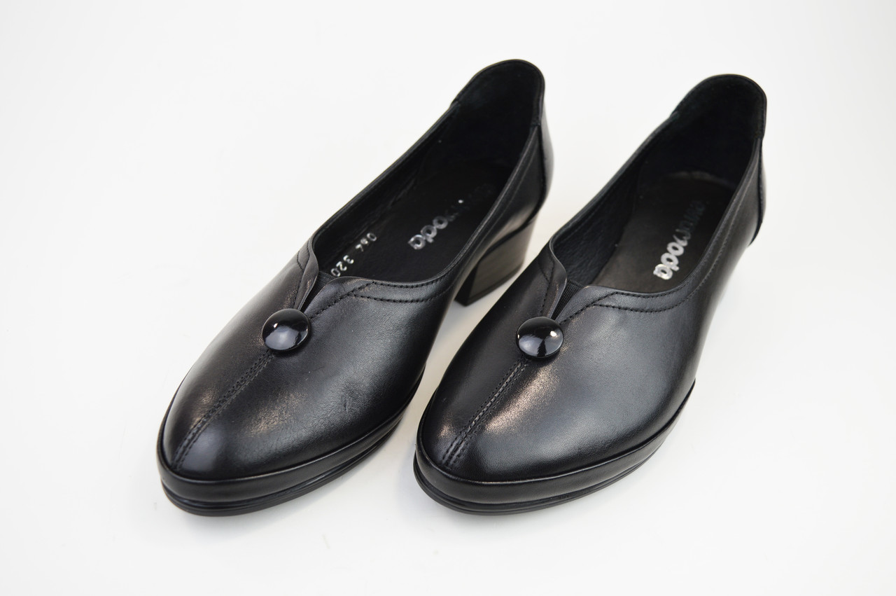 Туфли повседневные Evromoda 320 черные кожа