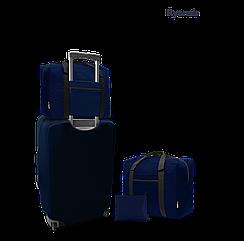 Дорожня сумка для ручної поклажі Coverbag синя 40*25*20 см RyanAir