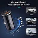 Зарядное устройство QC3.0+QC3.0 KUULAA Quick Charge 3,0 48 Вт Автомобильное зарядное устройство, фото 4