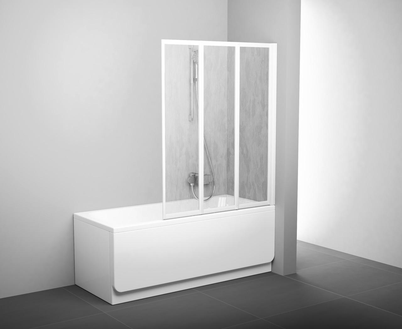 Штора для ванны сложная Ravak VS3 Rain трёхэлементная