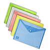 Папка-конверт на кнопке А4 Axent 1402 прозрачная