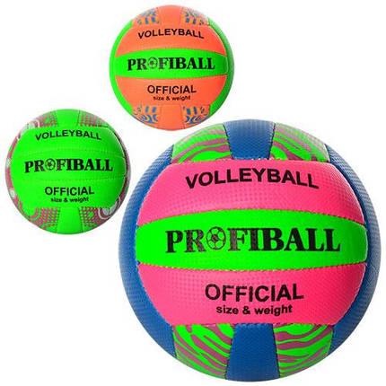 Волейбольный мяч PROFI 1106ABC 2 слоя ПУ, фото 2