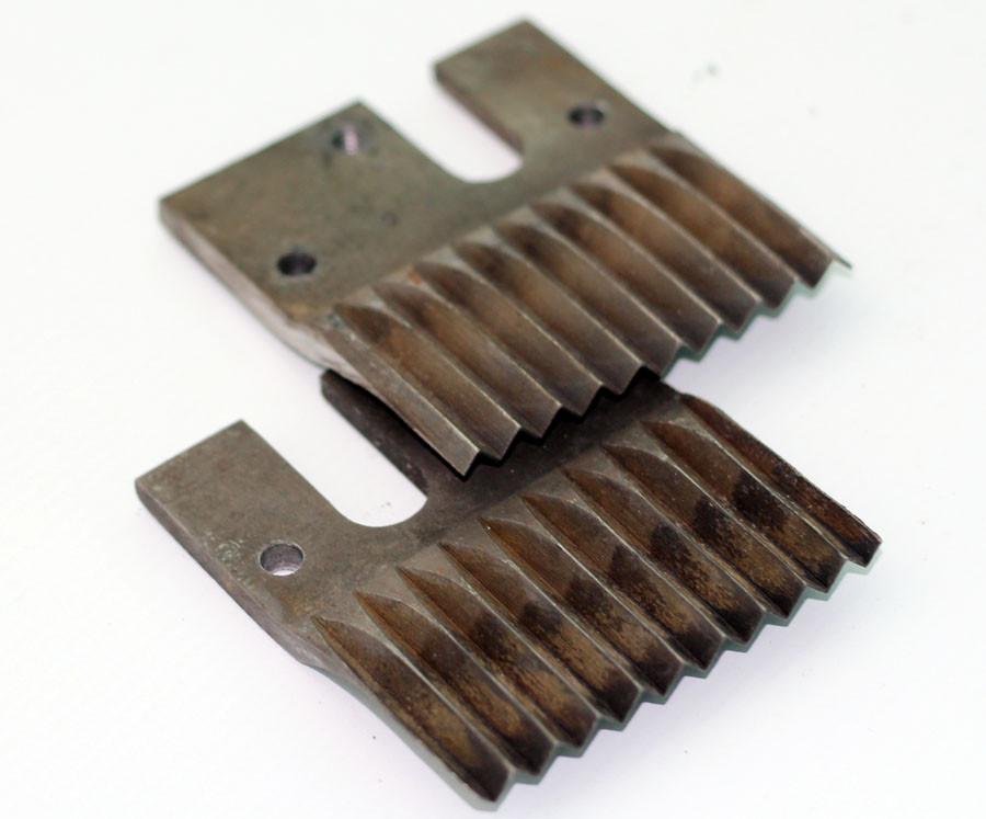 🇺🇦 Ножи на корморезку Ромашка (волнистые, 2 шт)