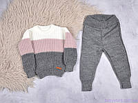 """Костюм для малыша """"Alen"""", серо-розовый, Размеры от 80 до 110, фото 1"""