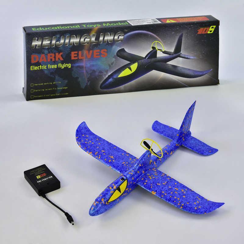 Самолёт с электромотором С 34389 (128) аккумулятор, 3 цвета, в коробке