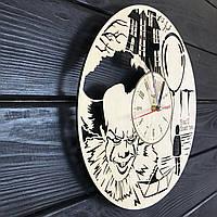 Круглые концептуальные часы из дерева «Оно», фото 1