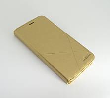 Чехол-книжка для смартфона Meizu M6S золотая MKA